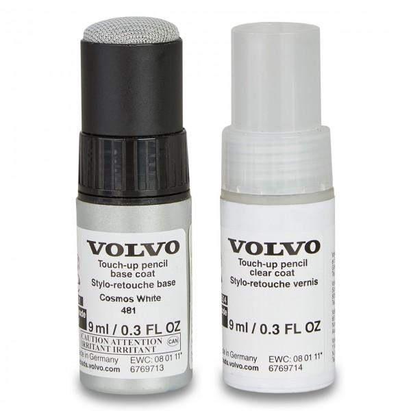 Farbcode 481 - Cosmos White Metallic - Volvo Lackstift Set 31265716
