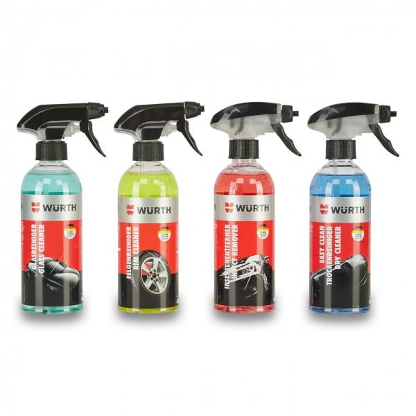 Würth Reiniger Set bestehend aus vier Pumpsprühflaschen mit je 400 ml