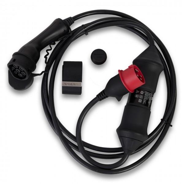 Volvo Pure Electric Ladekabel 4,5 m CEE-Stecker rot für 16A Industriesteckdose