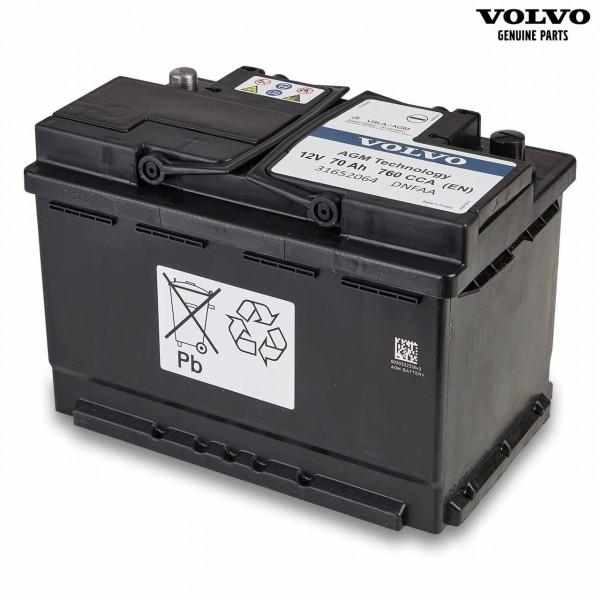 Original Volvo XC40 Autobatterie 12V 70Ah 760A 31652064 - Vorderseite