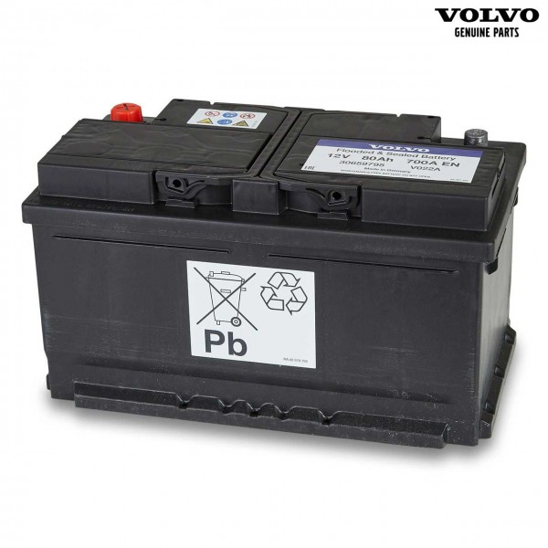 Original Volvo V60CC Autobatterie 12V 80Ah 700A 30659795 - Vorderseite