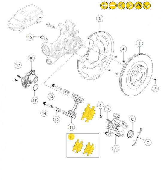 Bremsbeläge für die Hinterachse des LEVC TX