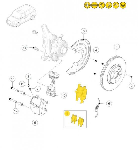 Bremsbeläge für die Vorderachse des LEVC TX