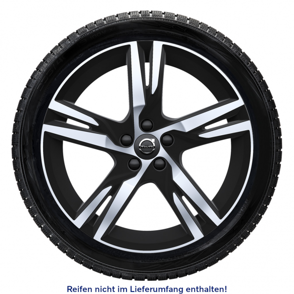 Original Volvo Alufelge 5-Doppelspeichen R-Design 19 Zoll 31423931 - am Reifen