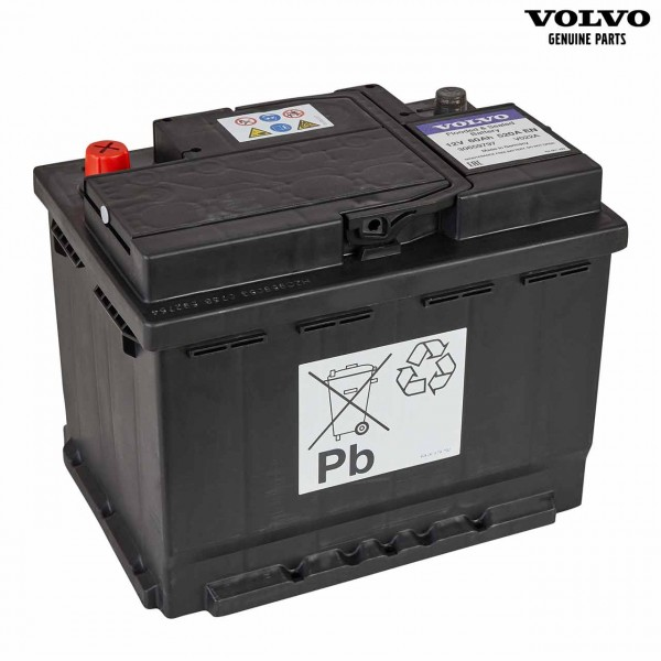Original Volvo V70 Autobatterie 12V 60Ah 520A 30659797 - Vorderseite
