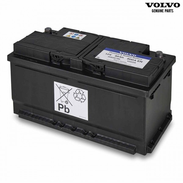 Original Volvo Autobatterie 12V 90Ah 800A 30659796 - Vorderseite