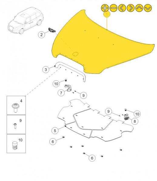 LEVC Motorhaube 1B0001389AE