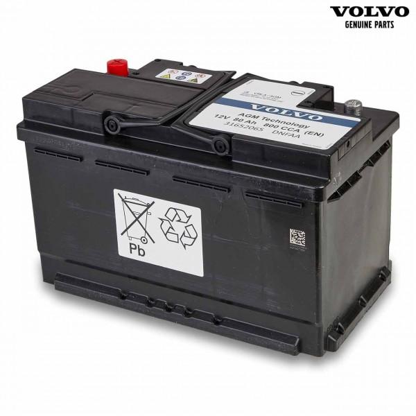 Original Volvo Autobatterie 12V 80Ah 800A 31652065 - Vorderseite