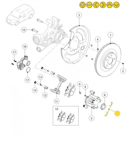 Original LEVC Feder für den Bremssattel der Hinterachse