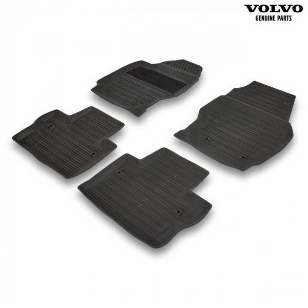 Original Volvo Gummi Fußmattensatz Farbe Offblack 39807571