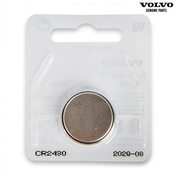 Original Volvo S80 Transponderschlüssel Batterie CR2430 31252292 - Vorderseite