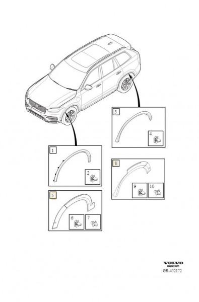 Volvo XC90 Radhausverbreiterung grundiert 39844636 - Explosionsgrafik