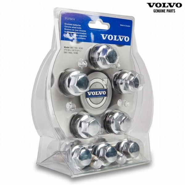 Original Volvo Radschrauben Satz Chrom 31373474 - Vorderseite