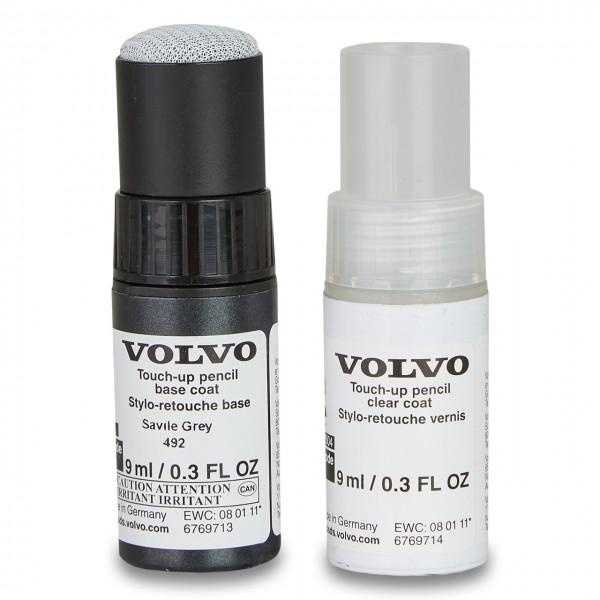 Farbcode 492 - Savile Grey Pearl - Volvo Lackstift Set 31266579