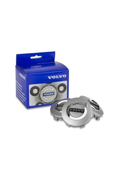 Volvo Nabendeckel Satz Silber (matt)