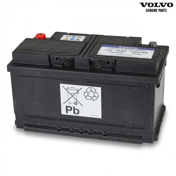 Original Volvo S40 Autobatterie 12V 80Ah 700A 30659795 - Vorderseite