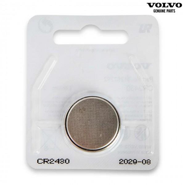 Original Volvo S60 Transponderschlüssel Batterie CR2430 31252292 - Vorderseite