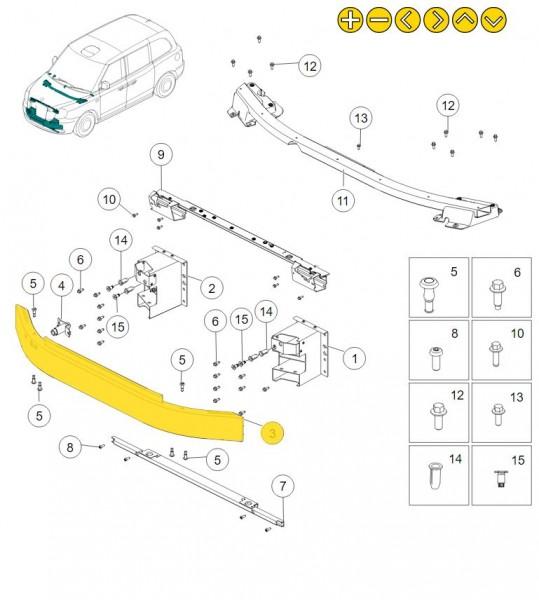 LEVC Stoßfängerträger vorne für TX und VN5