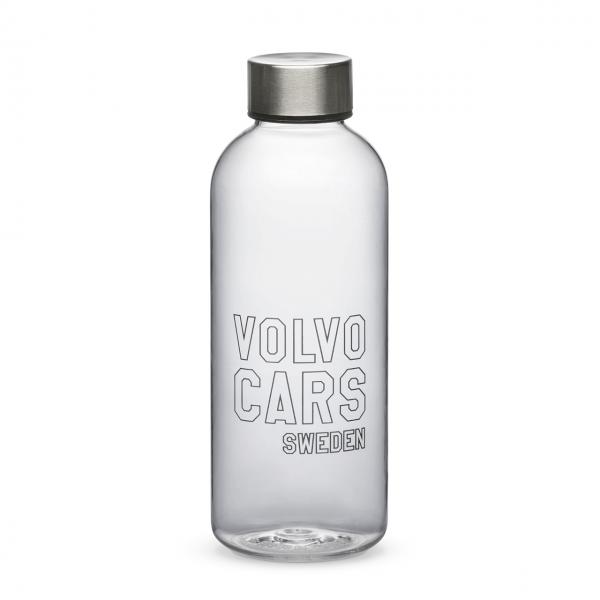 Original Volvo Wasserflasche transparent 600ml 32220626 - Vorderseite
